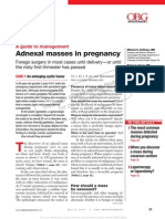 Adnexal Masses in Pregnancy