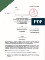 Order of Warren J Made on 20.08.15 against Vlad Doronin