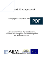 [EN] DLM Forum Industry Whitepaper 03 | Content Management | Filenet | Royce Murphy and James DeFerrari | Hamburg 2002