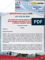 Tips Energeticos No 2 Ref Ley 1715 2014