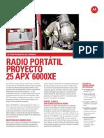 APX6000XE Especificaciones