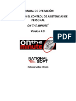 on the minute® 4.0 - manual de operacion