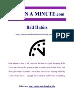 55555bad Habits