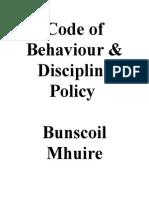 code of behaviour newb jan 2010