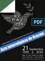 Afiche Dia Internacional de La Paz 2015