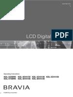 Sony Bravia KDL 32XBR6 Manual
