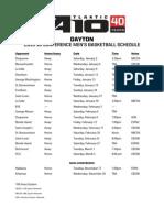 Dayton's 2015 Atlantic 10 Schedule