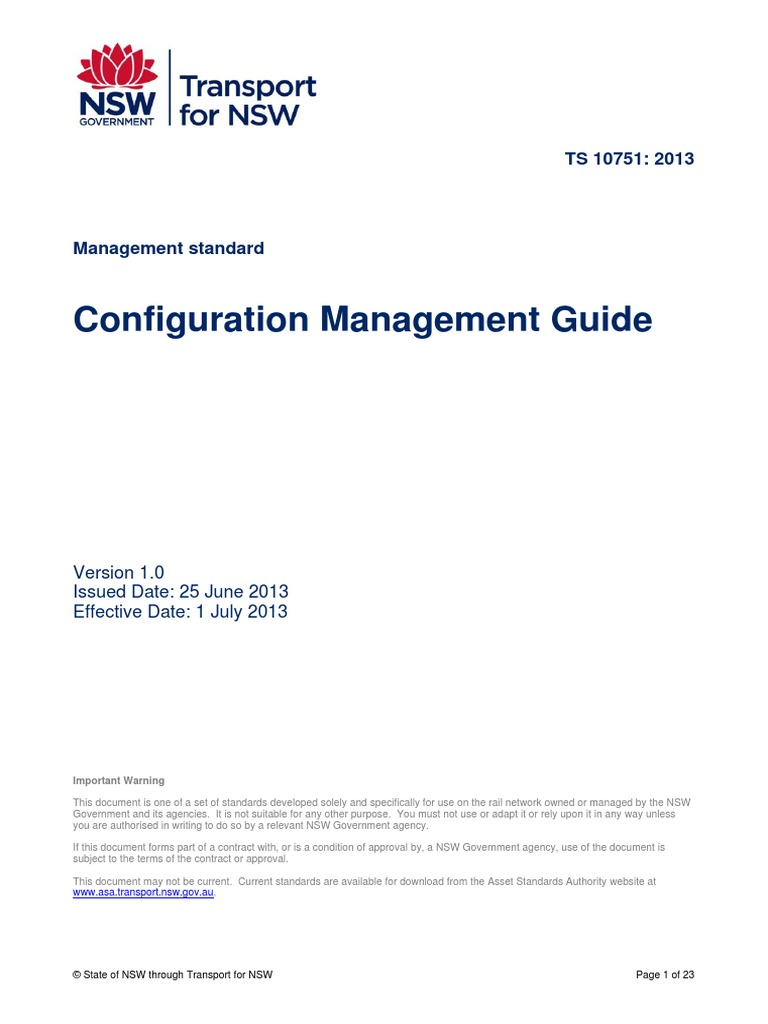 Configuration Management   Rail Transport   Stakeholder