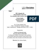 III Coloquio de Filosofía Social - La Relación Entre Teoría y Práctica