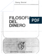 Simmel, G., Filosofia Del Dinero