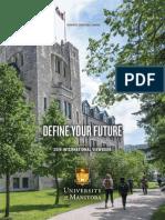 University of Manitoba 2016 International Viewbook