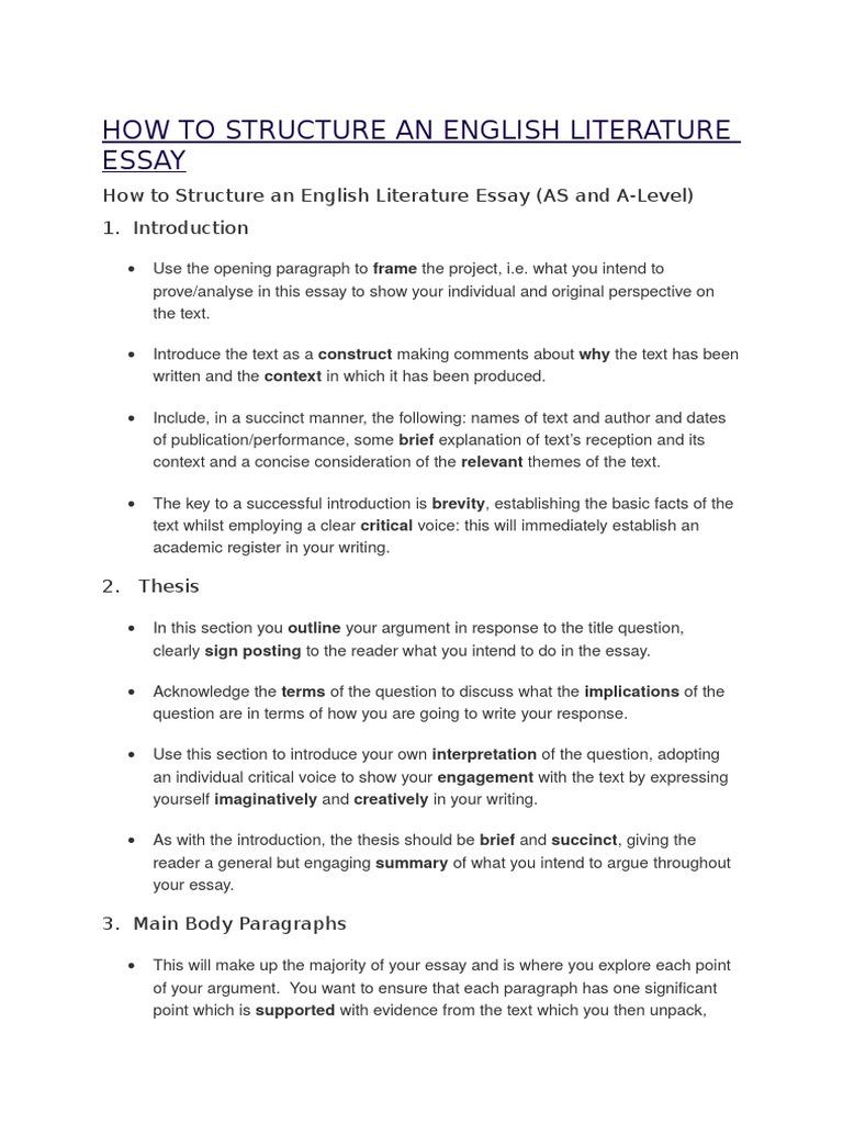 Of an english literature essay college application essay rubrics
