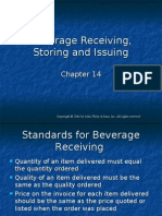 Beverage Receiving, Storing and Issuing