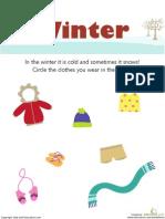 Winter Weather Wear Preschool