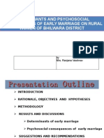 thesis Presentation on Early Marriage
