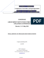 EC Report on Labour Market Institutions in Times of Crisis - May 2009