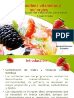 Smoothies Vitaminas y Minerales