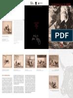 Tríptico. Exposición Goya. Septiembre 2015. Fundación Caja Mediterráneo