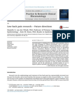 Low Back Pain Research – Future Directions
