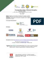 PROGRAMACIÓN_II Workshop en Energías Renovables y Eficiencia Energética