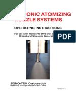 Ultrasonic Atomizing Nozzle Systems