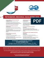 2015 Petrobowl Poster