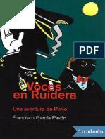 Voces en Ruidera - Francisco Garcia Pavon