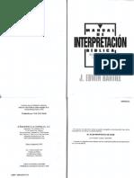 Manual de Interpretación Biblica - J. Edwin Hartill