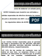 Estado Financiero Compania Acme Estudio Caso