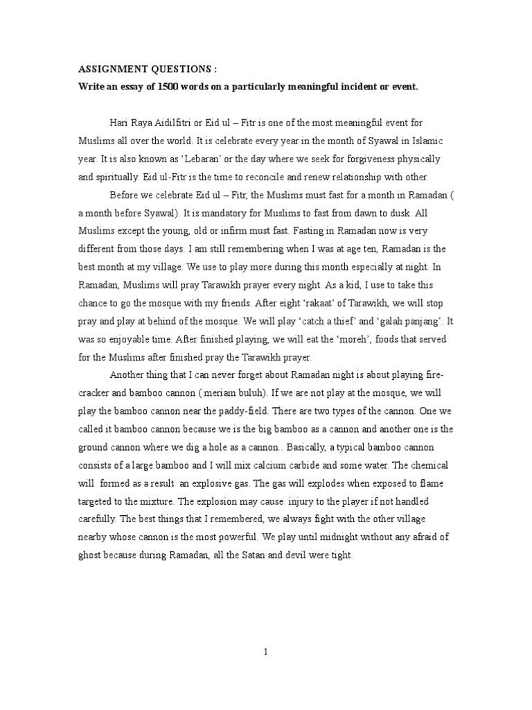 festival celebration essay