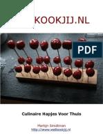 Kookboek - Handige basisrecepturen en unieke hapjes recepten!