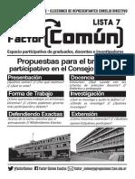 Plataforma 2015 Factor Común