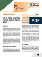 Anti CCP - Alat Diagnostik Dan Prognostik Terbaru Untuk Rheumatoid Arthritis