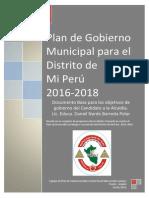Frente Amplio Mi Peru - Plan de Gobierno