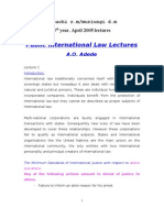 Public International Law Lectures