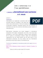 Public International Law Lectures
