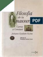 Fichte, J.G. - Filosofia de La Masonería. Cartas a Constant