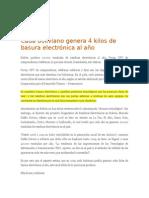 Pagina Siete Cada Boliviano Genera 4 Kilos de Raee