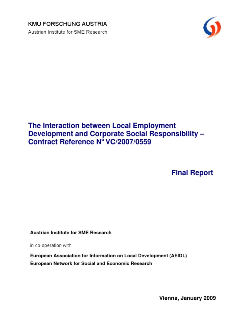 The Interaction Between Local Employment Development and CSR ...
