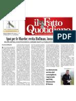 """Articolo da """"IL FATTO QUOTIDIANO"""" - 4 febbraio 2010"""