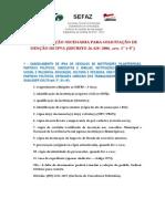Documentação Isenção de Ipva