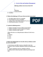 ITIL V2 Questions - Service Desk and Incident Management