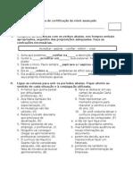 Prova de Portugués Avancado - Respostas