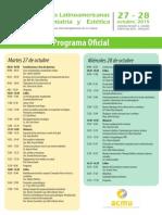 Programa Jornadas ACMU
