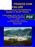 Reassessment of St Francis Dam Failure