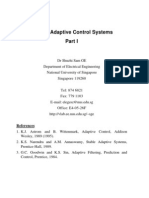 EE5104 Adaptive Control Systems Part I