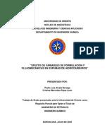 """""""Efecto de Variables de Formulación y Flujomecánicas en Espumas de Hidrocarburos"""