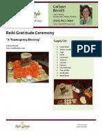 Reiki Gratitude Ceremony