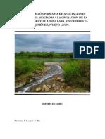 Evaluación preliminar de impactos ocasionados por la refinería Héctor R. Lara Sosa.