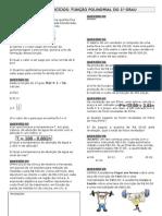 Lista de Funções Polinomial Do 1º Grau